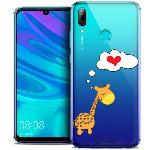 "Coque Crystal Gel Huawei P Smart 2019 (6.21"") Extra Fine Love - Girafe Amoureuse"