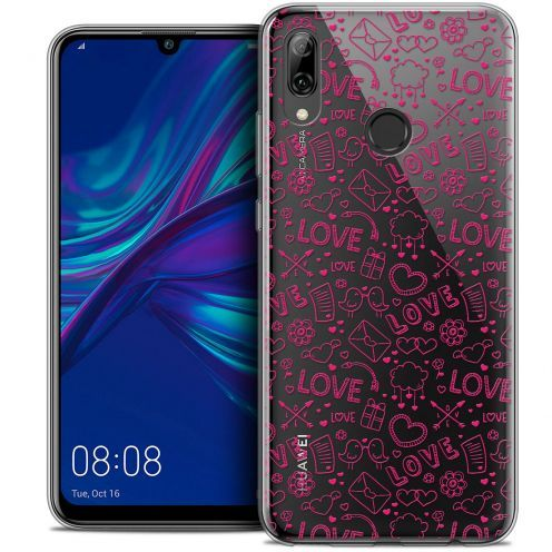 "Coque Crystal Gel Huawei P Smart 2019 (6.21"") Extra Fine Love - Doodle"