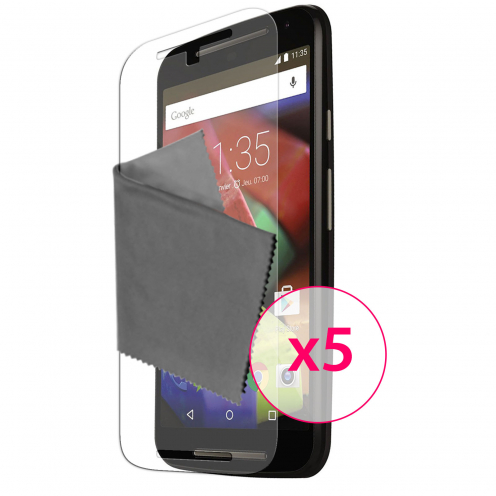Zoom sur Films de protection Motorola Moto G 4G (V2 2014) Clubcase® 3H Ultra Clear HD Lot de 5