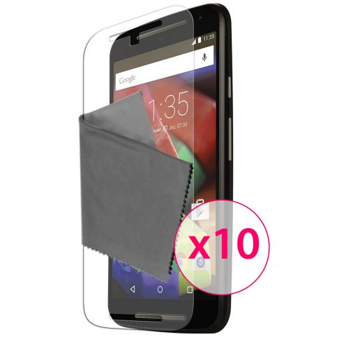 Zoom sur Films de protection Motorola Moto G 4G (V2 2014) Clubcase® 3H Ultra Clear HD Lot de 10