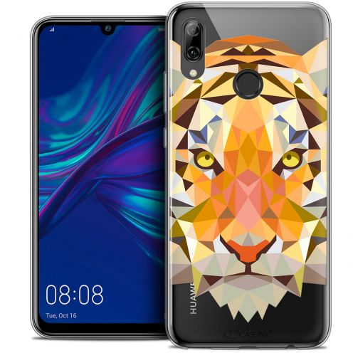 "Coque Crystal Gel Huawei P Smart 2019 (6.21"") Extra Fine Polygon Animals - Tigre"