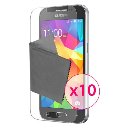 Zoom sur Films de protection Samsung Galaxy Core Prime Clubcase® 3H Ultra Clear HD Lot de 10