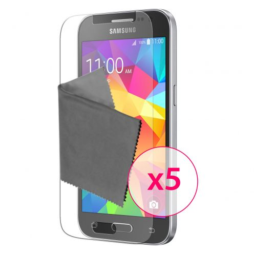 Zoom sur Films de protection Samsung Galaxy Core Prime Clubcase® 3H Ultra Clear HD Lot de 5