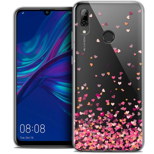 "Coque Crystal Gel Huawei P Smart 2019 (6.21"") Extra Fine Sweetie - Heart Flakes"