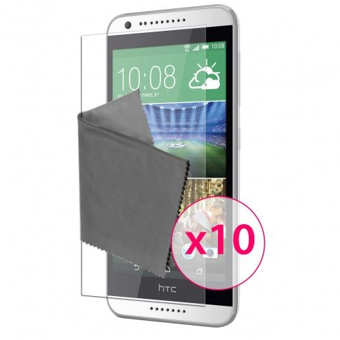 Films de protection HTC Desire 620 Clubcase® 3H Ultra Clear HD Lot de 10
