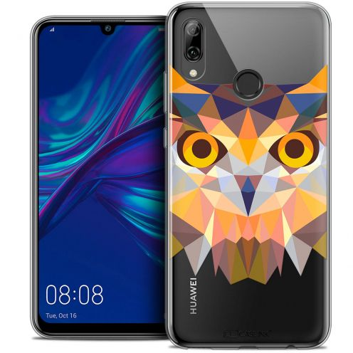 "Coque Crystal Gel Huawei P Smart 2019 (6.21"") Extra Fine Polygon Animals - Hibou"