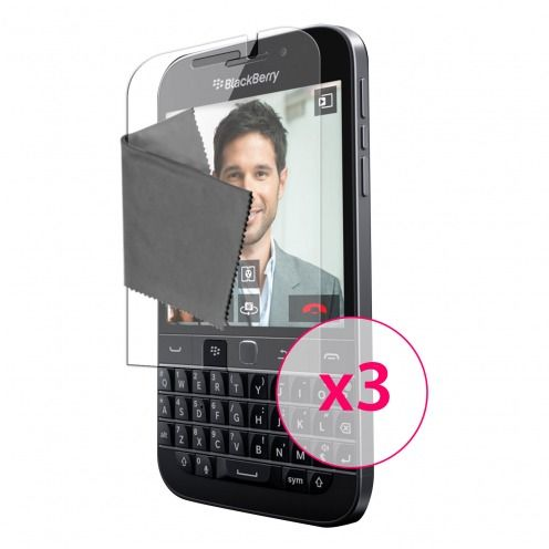 Zoom sur Films de protection BlackBerry Q20 Clubcase® 3H Ultra Clear HD Lot de 3