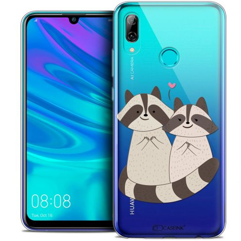"Coque Crystal Gel Huawei P Smart 2019 (6.21"") Extra Fine Sweetie - Racoon Love"