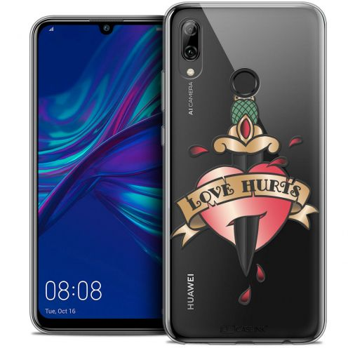 "Coque Crystal Gel Huawei P Smart 2019 (6.21"") Extra Fine Tatoo Lover - Love Hurts"