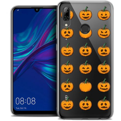 "Coque Crystal Gel Huawei P Smart 2019 (6.21"") Extra Fine Halloween - Smiley Citrouille"