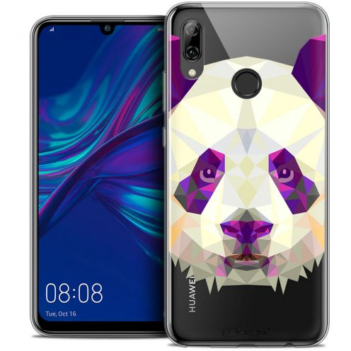 "Coque Crystal Gel Huawei P Smart 2019 (6.21"") Extra Fine Polygon Animals - Panda"