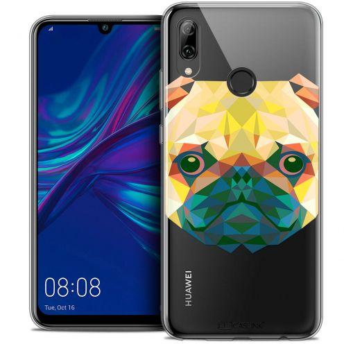 "Coque Crystal Gel Huawei P Smart 2019 (6.21"") Extra Fine Polygon Animals - Chien"
