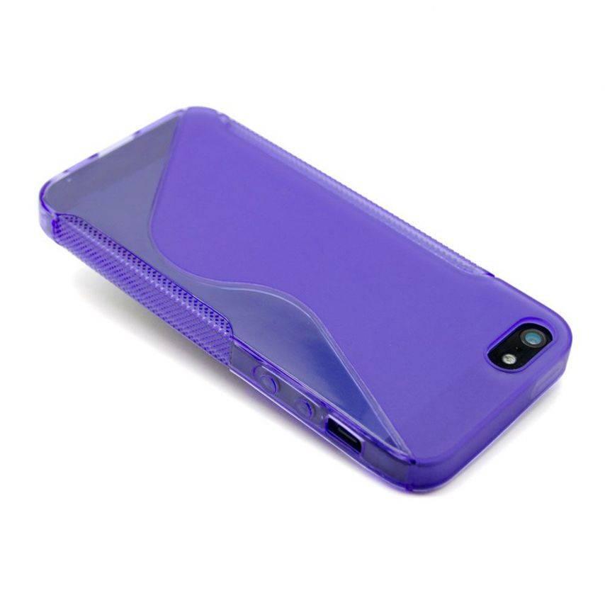 Visuel supplémentaire de Coque iPhone 5 Tpu Basics SLine Violette
