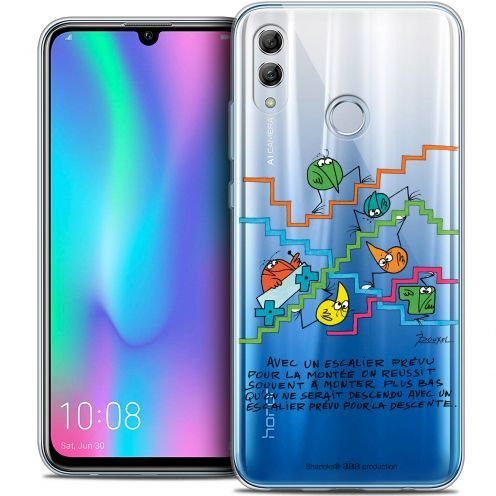 "Coque Gel Huawei Honor 10 LITE (5.8"") Extra Fine Les Shadoks® - L'escalier"