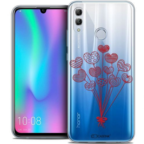 """Coque Crystal Gel Huawei Honor 10 LITE (5.8"""") Extra Fine Love - Ballons d'amour"""