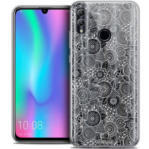 "Coque Crystal Gel Huawei Honor 10 LITE (5.8"") Extra Fine Dentelle Florale - Blanc"