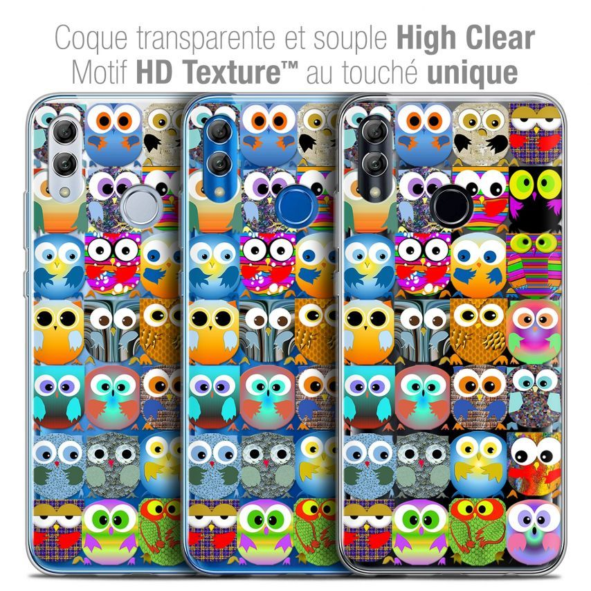"Coque Crystal Gel Huawei Honor 10 LITE (5.8"") Extra Fine Claude - Hibous"