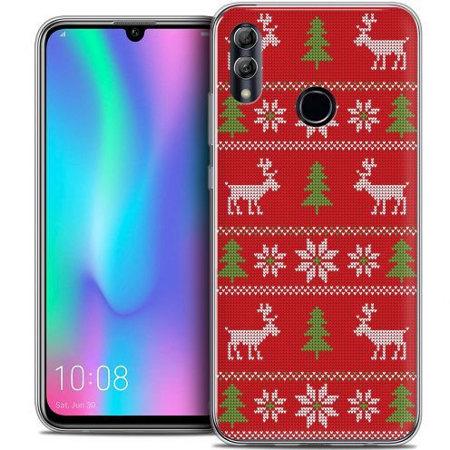 """Coque Crystal Gel Huawei Honor 10 LITE (5.8"""") Extra Fine Noël 2017 - Couture Rouge"""