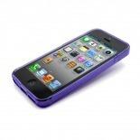 Vue complémentaire de Coque iPhone 5 Tpu Basics SLine Violette
