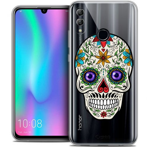 "Coque Crystal Gel Huawei Honor 10 LITE (5.8"") Extra Fine Skull - Maria's Flower"