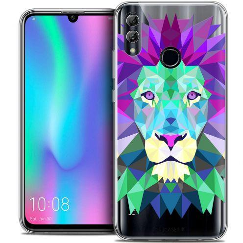 "Coque Crystal Gel Huawei Honor 10 LITE (5.8"") Extra Fine Polygon Animals - Lion"