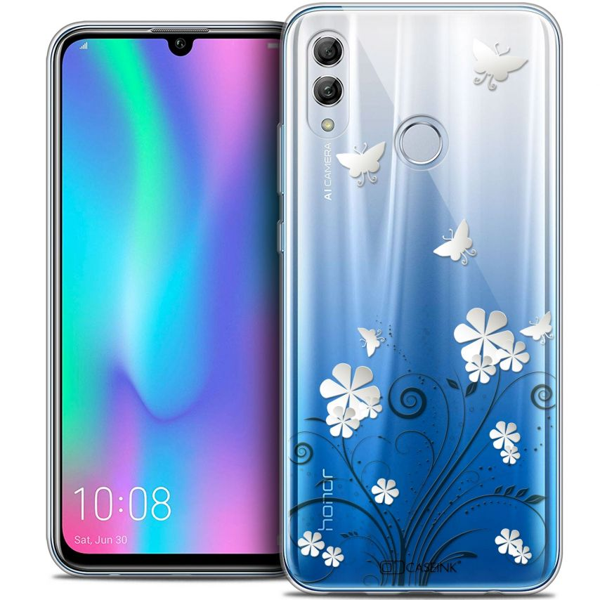 "Coque Crystal Gel Huawei Honor 10 LITE (5.8"") Extra Fine Summer - Papillons"