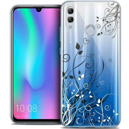 "Coque Crystal Gel Huawei Honor 10 LITE (5.8"") Extra Fine Love - Hearts Flowers"