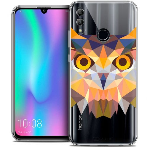 "Coque Crystal Gel Huawei Honor 10 LITE (5.8"") Extra Fine Polygon Animals - Hibou"