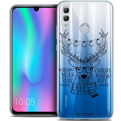"Coque Crystal Gel Huawei Honor 10 LITE (5.8"") Extra Fine Noël 2017 - Cerf Hipster"
