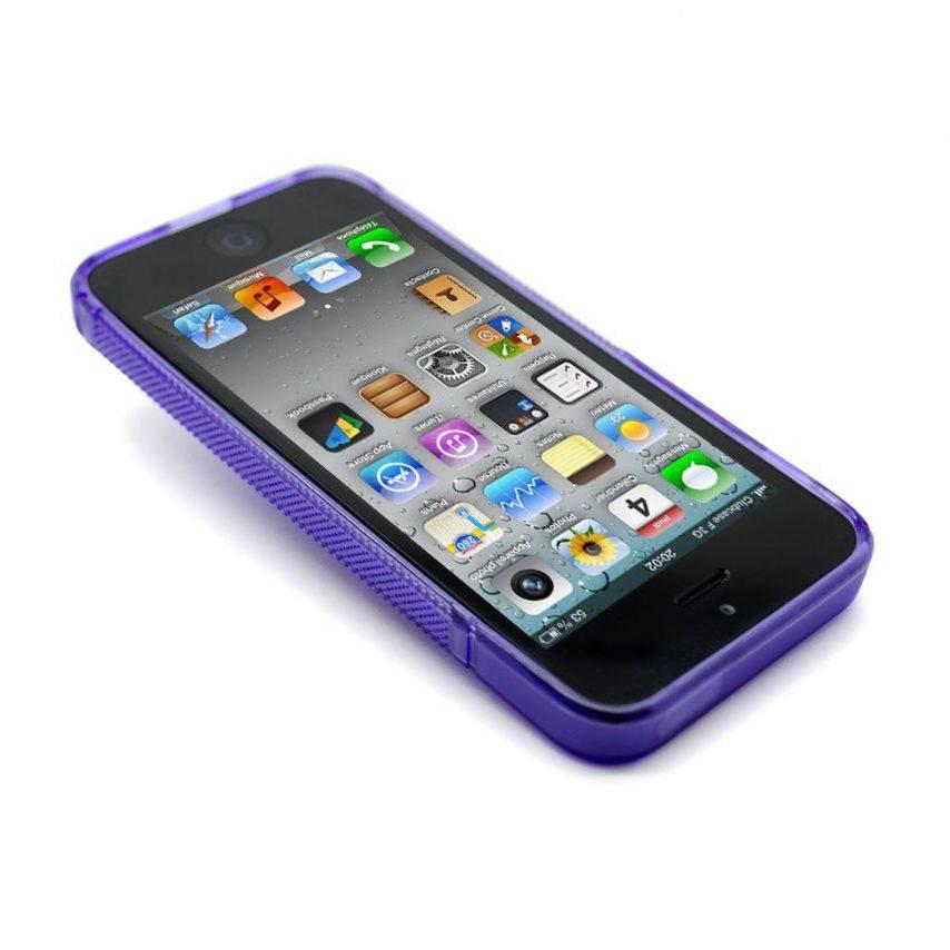 Photo réelle de Coque iPhone 5 Tpu Basics SLine Violette