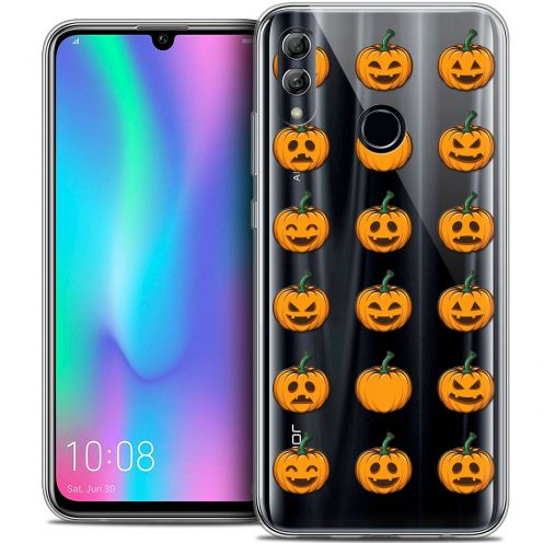 "Coque Crystal Gel Huawei Honor 10 LITE (5.8"") Extra Fine Halloween - Smiley Citrouille"