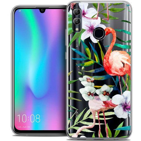 "Coque Crystal Gel Huawei Honor 10 LITE (5.8"") Extra Fine Watercolor - Tropical Flamingo"