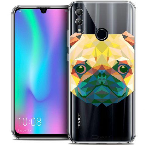 "Coque Crystal Gel Huawei Honor 10 LITE (5.8"") Extra Fine Polygon Animals - Chien"