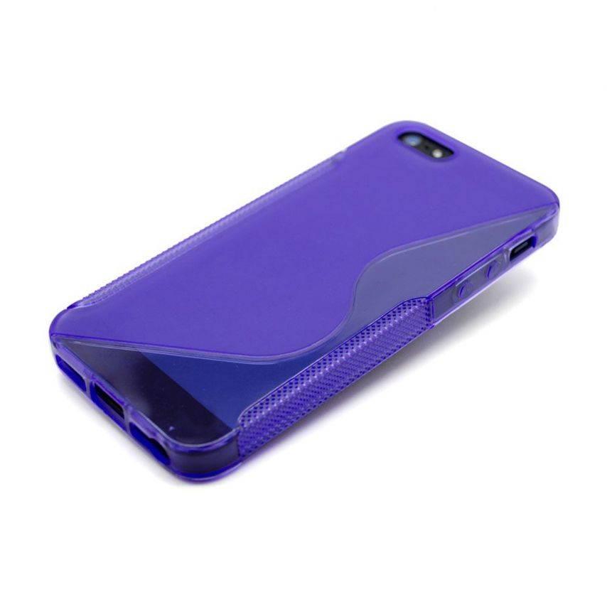 Vue portée de Coque iPhone 5 Tpu Basics SLine Violette