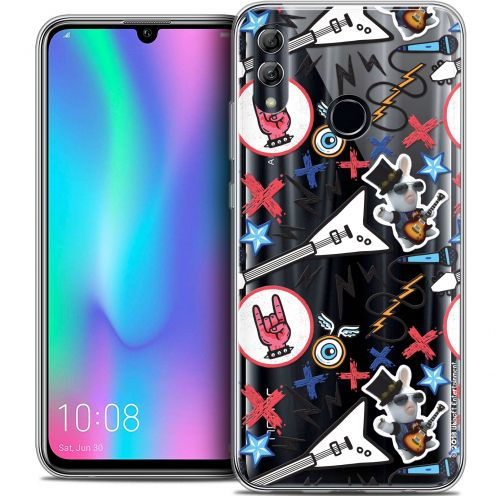 "Coque Gel Huawei Honor 10 LITE (5.8"") Extra Fine Lapins Crétins™ - Rock Pattern"