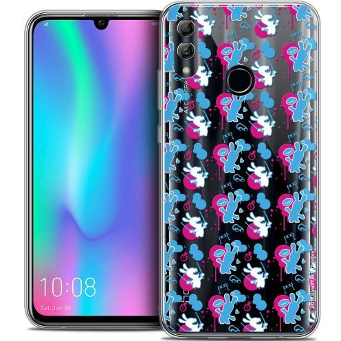 "Coque Gel Huawei Honor 10 LITE (5.8"") Extra Fine Lapins Crétins™ - Rugby Pattern"