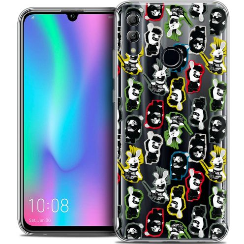 "Coque Gel Huawei Honor 10 LITE (5.8"") Extra Fine Lapins Crétins™ - Punk Pattern"