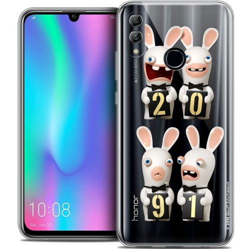 "Coque Gel Huawei Honor 10 LITE (5.8"") Extra Fine Lapins Crétins™ - New Year"