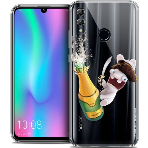 "Coque Gel Huawei Honor 10 LITE (5.8"") Extra Fine Lapins Crétins™ - Champagne !"