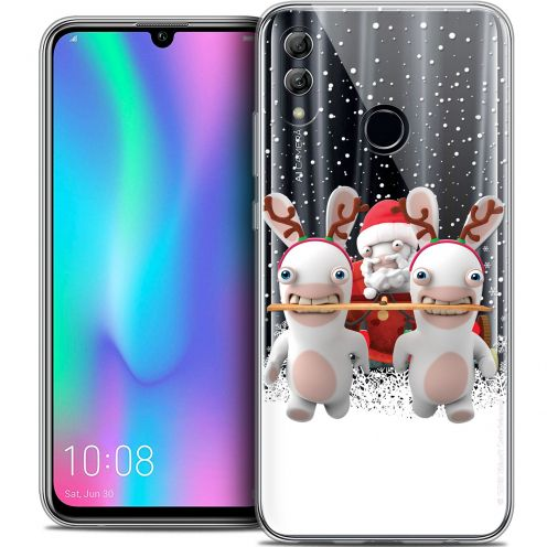 "Coque Gel Huawei Honor 10 LITE (5.8"") Extra Fine Lapins Crétins™ - Lapin Traineau"