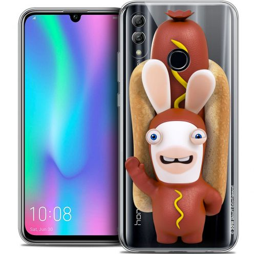 "Coque Gel Huawei Honor 10 LITE (5.8"") Extra Fine Lapins Crétins™ - Hot Dog Crétin"