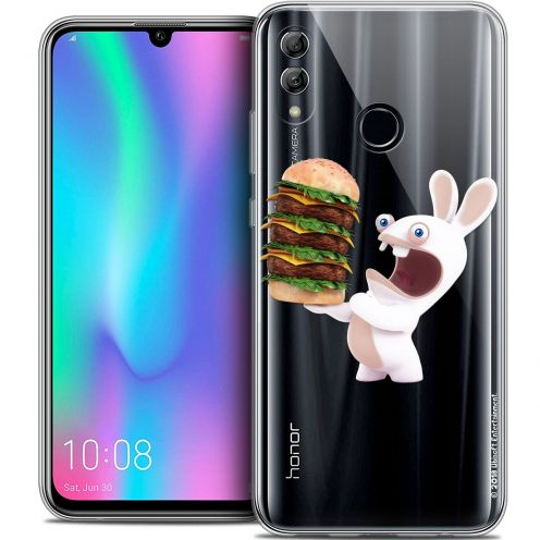 "Coque Gel Huawei Honor 10 LITE (5.8"") Extra Fine Lapins Crétins™ - Burger Crétin"