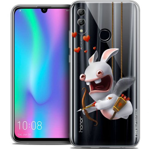 "Coque Gel Huawei Honor 10 LITE (5.8"") Extra Fine Lapins Crétins™ - Flying Cupidon"