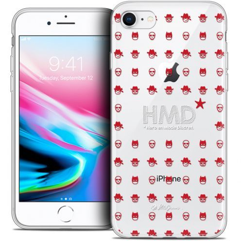 "Coque Gel Apple iPhone 7 (4.7"") Extra Fine Petits Grains® - HMD* Hero en Mode Discret"