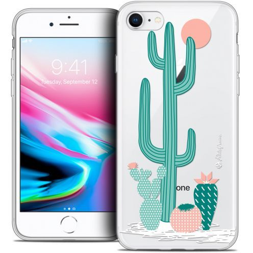 "Coque Gel Apple iPhone 7 (4.7"") Extra Fine Petits Grains® - A l'Ombre des Cactus"