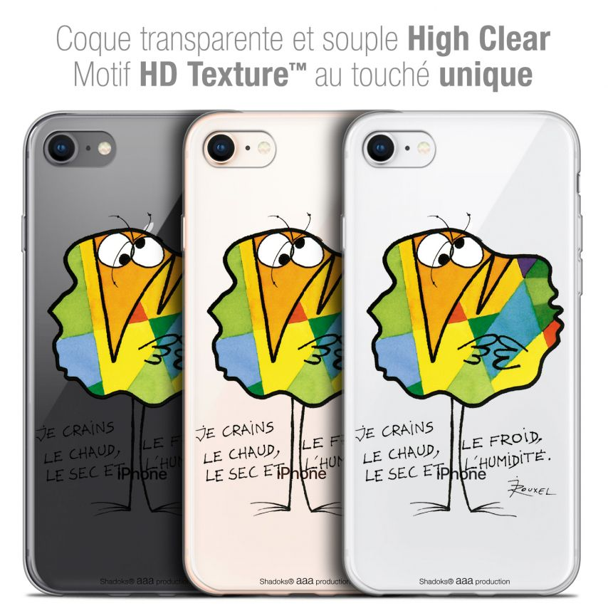 """Coque Gel Apple iPhone 7 (4.7"""") Extra Fine Les Shadoks® - Chaud ou Froid"""