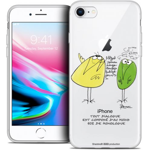 "Coque Gel Apple iPhone 8 (4.7"") Extra Fine Les Shadoks® - Le Dialogue"