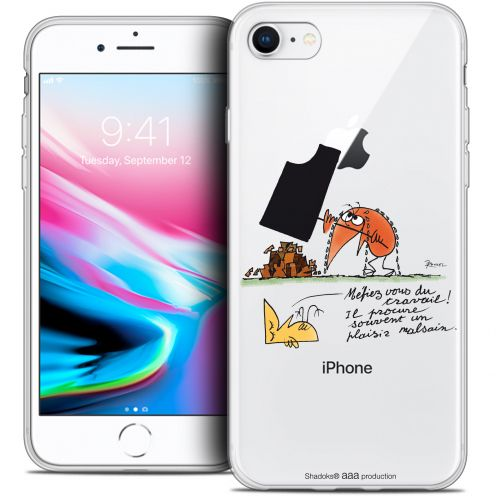"Coque Gel Apple iPhone 8 (4.7"") Extra Fine Les Shadoks® - Le Travail"