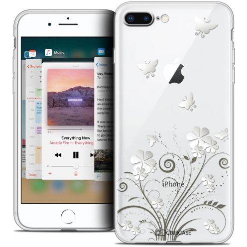 "Coque Crystal Gel Apple iPhone 7 Plus (5.5"") Extra Fine Summer - Papillons"