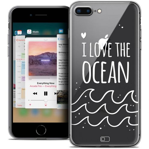"Coque Crystal Gel Apple iPhone 7 Plus (5.5"") Extra Fine Summer - I Love Ocean"